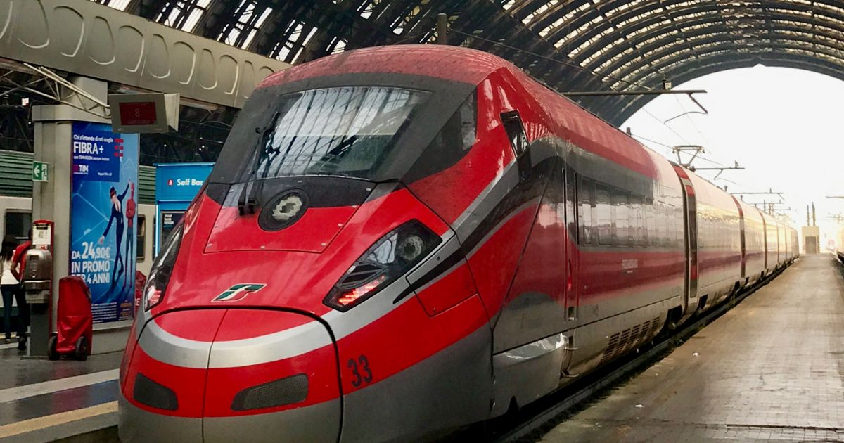 how to travel by train from london to italy